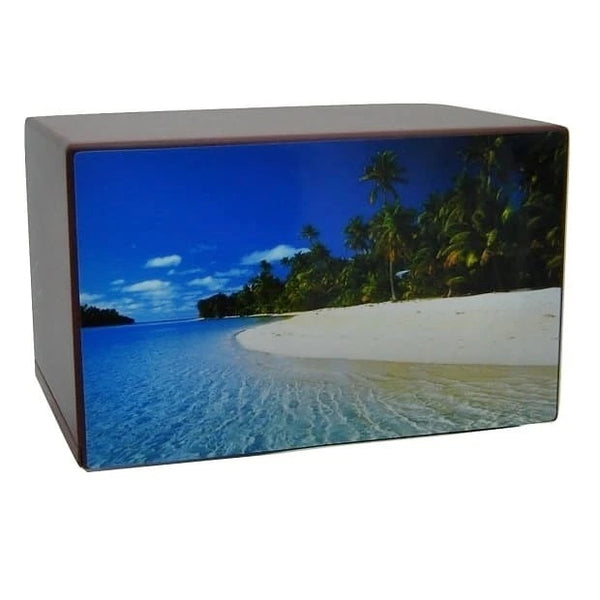 Tropical Beach Cremation Urn for Ashes - Quality Urns & Statues For Less