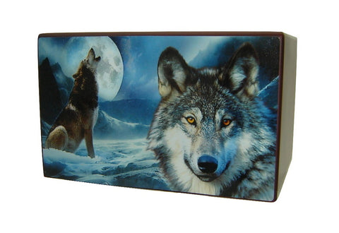 Moonlight Wolf Cremation Urn for Ashes - Quality Urns & Statues For Less