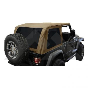 RT Off-Road Bowless Soft Top (Spice Diamond w/ Tint) Part Number BRT10037 Suit TJ Jeep Wrangler 1997-2006