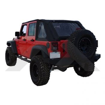 RT Off-Road Bowless Soft Top (Black Diamond) Part Number BRT20135T Suit JK Jeep Wrangler 2007-2018