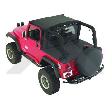 RT Off-Road Cover All Kit (87/91 YJ), Black Denim Part Number CA10115 Suit YJ Jeep Wrangler 1987-1991