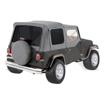 RT Off-Road Complete Soft Top (Grey Denim-Tinted Windows) Part Number CT20009T Suit YJ Jeep Wrangler 1987-1995