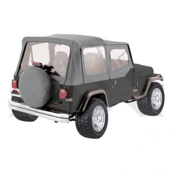 RT Off-Road Complete Soft Top (Grey Denim) Part Number CT20009 Suit YJ Jeep Wrangler 1987-1995