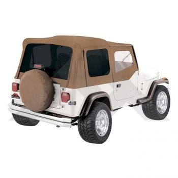 RT Off-Road Complete Soft Top, Spice Denim (Tinted Windows) Part Number CT20037T Suit YJ Jeep Wrangler 1987-1995