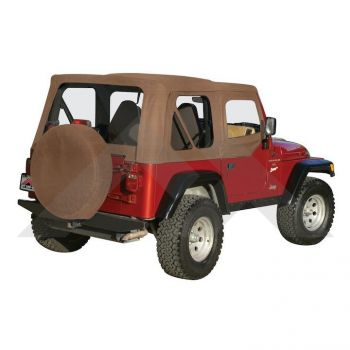 RT Off-Road Complete Soft Top (Spice Denim) Part Number CT20137 Suit TJ Jeep Wrangler 1997-2006