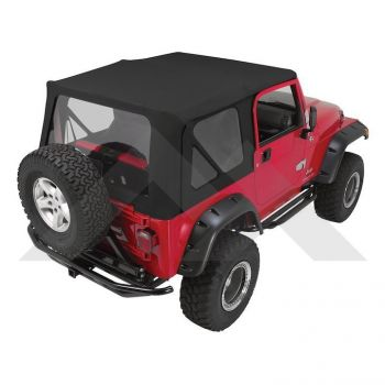 RT Off-Road Complete Soft Top (Black Diamond) Part Number CT20335 Suit TJ Jeep Wrangler 1997-2006