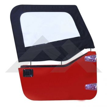 RT Off-Road Upper Door Skins (Black Denim) Part Number DS10115 Suit TJ Jeep Wrangler 1997-2006