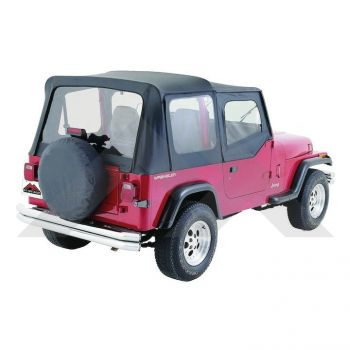 RT Off-Road Replacement Soft Top (Black Denim) Part Number RT10015 Suit YJ Jeep Wrangler 1988-1995