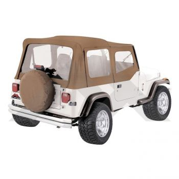 RT Off-Road Replacement Soft Top (Spice) Parts Number RT10037 Suit YJ Jeep Wrangler 1988-1995