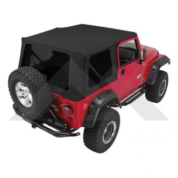 RT Off-Road Replacement Soft Top (Black Denim w/ Tinted Windows) Part Number RT10215T Suit TJ Jeep Wrangler 1997-2006