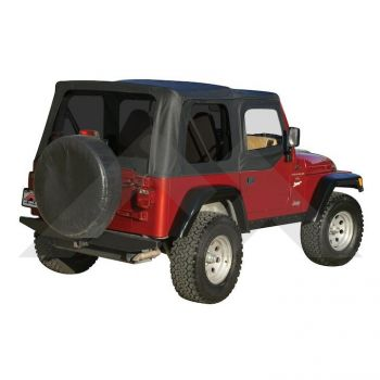 RT Off-Road Replacement Soft Top (Black Diamond w/ Tinted Windows) Part Number RT10335T Suit TJ Jeep Wrangler 1997-2006