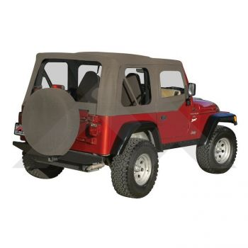 RT Off-Road Replacement Soft Top (Khaki Diamond) Part Number RT10336 Suit TJ Jeep Wrangler 1997-2006