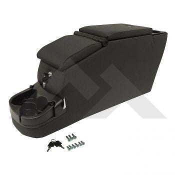 RT Off-Road Deluxe Dual Center Console (Black Denim) Part Number RT27047 Suits Jeep & Vintage Jeep See Description For More Info