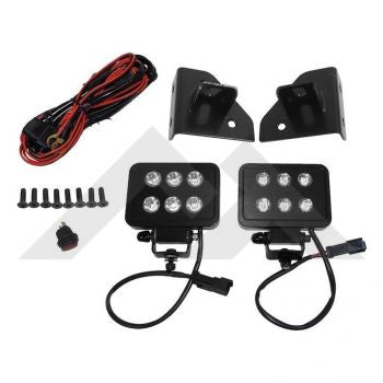 RT Off-Road LED Block Lamp & Harness Kit Part Number RT28074 Suit Jeep Wrangler CJ YJ