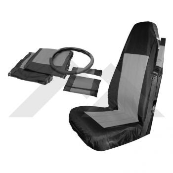RT Off-Road Front Seat Cover Set (Black/Gray) Part Number SC10021 Suit Jeep Wrangler TJ YJ