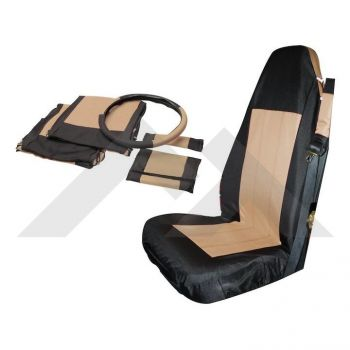 RT Off-Road Front Seat Cover Set (Black/Tan) Part Number SC10024 Suit Jeep Wrangler TJ YJ