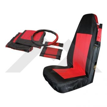 RT Off-Road Front Seat Cover Set (Black/Red) Part Number SC10030 Suit Jeep Wrangler TJ YJ