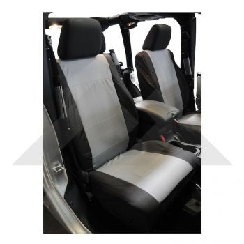 RT Off-Road Front Seat Covers (Black/Gray) Part Number SC30021 Suit JK Jeep Wrangler 2007-2010
