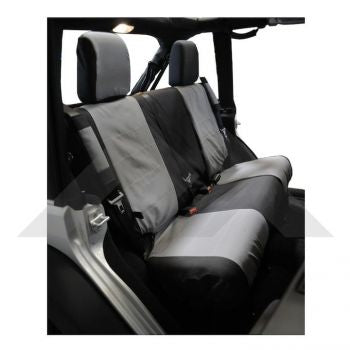 RT Off-Road Rear Seat Covers (Black/Gray) Part Number SC30121 Suit JK Jeep Wrangler 2007-2011