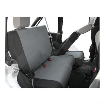 RT Off-Road Rear Seat Covers (Black/Gray) Part Number SC30221 Suit JK Jeep Wrangler 2007-2011