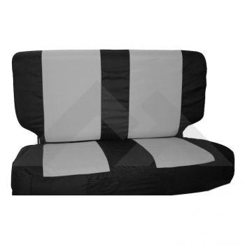 RT Off-Road Rear Seat Cover Set (Black/Gray) Part Number SCP20121 Suit Jeep Wrangler TJ YJ