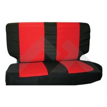 RT Off-Road Rear Seat Cover Set (Black/Red) Part Number SCP20130 Suit Jeep Wrangler TJ YJ