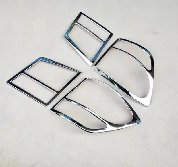 Dodge Journey JC or Fiat Freemont 2012 2013 2014 Chrome Plastic Rear Tail Light Lamp Cover Trim 4PCS Lamp Hoods