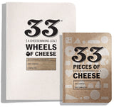 Size Comparison: 33 Wheels of Cheese vs. 33 Pieces of Cheese