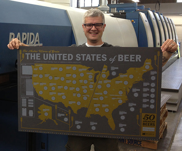 Dave Holding Beer Map