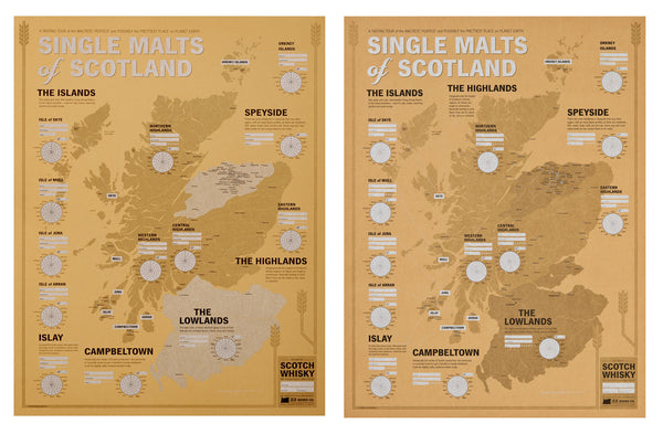 Scotch Whisky Map Ed. 1 and 2