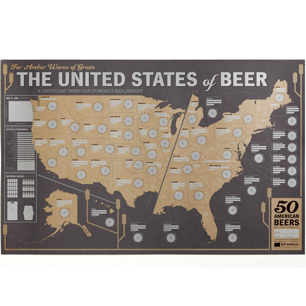 Breweries In Portland Oregon Map.Beer Poster 33 Books Co