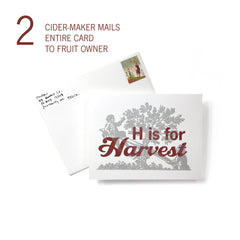 Cider Maker Mails Harvest Card