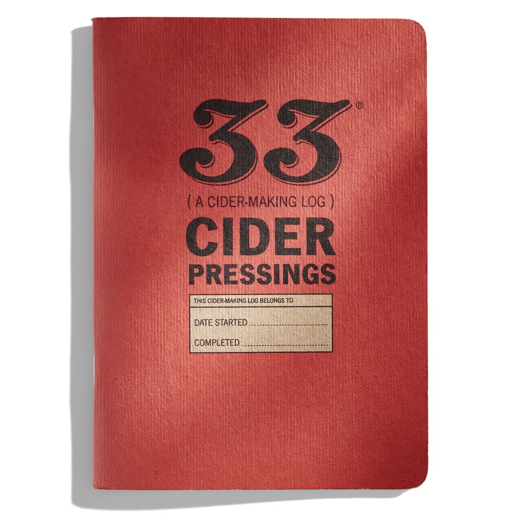 Cider-Making Log from 33 Books Co.