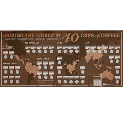 Around the World in 40 Cups: Unique Coffee Tasting Map