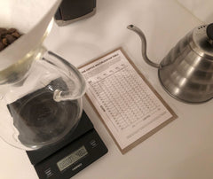 Brewing Coffee in a Chemex with a Hario Scale