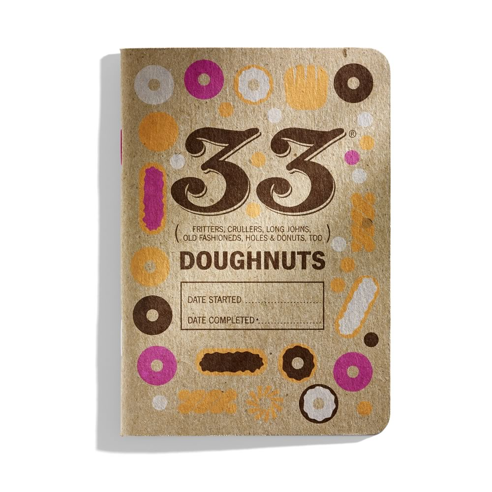 33 Doughnuts: a pocket doughnut-tasting journal