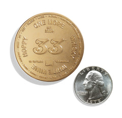Drinking Coin Size Comparison