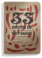 33 Drops of Hot Sauce Tasting Journal - Standard Red Cover