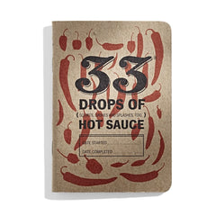 33 Hot Sauces: pocket hot sauce-tasting journal