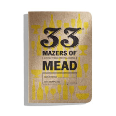 33 Mazers of Mead - Mead Journal Front Cover