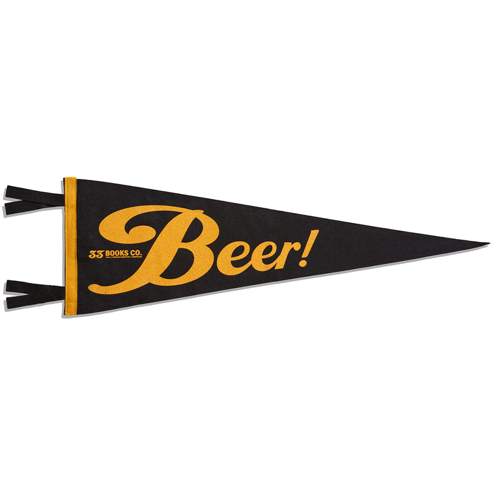 33 Books Co. Beer Pennant