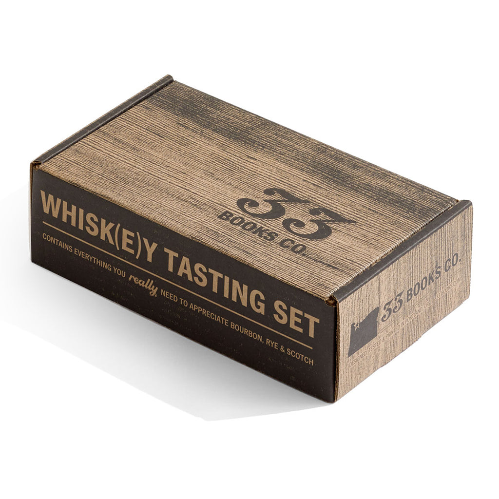 The Whiskey Tasting Set Comes in an Attractive Whisky Barrel-inspired Box
