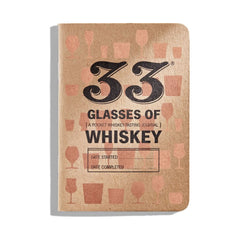 Pocket Whiskey Journal Cover - 33 Glasses of Whiskey