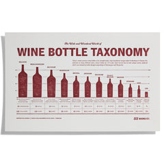 Wine Bottle Taxonomy Letterpress Print