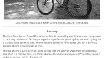 Gravel Cyclist Review - HUNT 4 Season Gravel Disc Wheelset