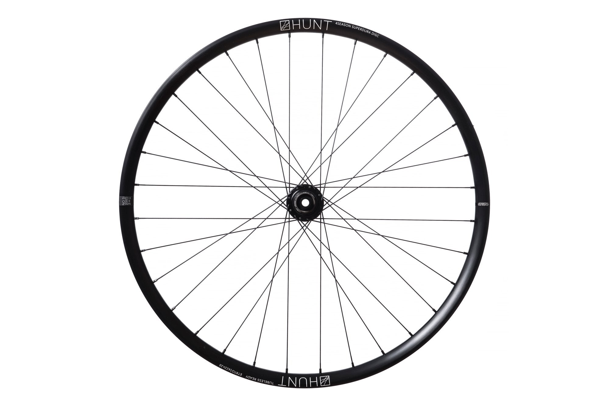 <html><h1>Spokes</h1><i>We chose the top-of-the-range Pillar Spoke Re-enforcement PSR XTRA models. These butted spokes are lighter and provide a greater degree of elasticity to maintain tensions and add fatigue resistance. These PSR J-bend spokes feature the 2.2 width at the spoke head providing more material in this high stress area. The nipples come with a square head so you can achieve precise tensioning. Combining these components well is key which is why all Hunt wheels are hand-built.</i></html>
