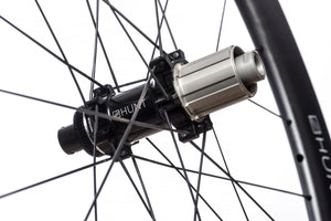 <h1>Freehub Body</h1><i>Featuring 3 multi-point pawls with 3 teeth each and a 48t ratchet ring. The result an impressively low 7.5 deg engagement angle. Durability is a theme for Hunt as time and money you spend fixing is time and money you cannot spend riding or upgrading your bikes. As a result all our freehub bodies have Steel Spline Insert re-enforcements to provide excellent durability against cassette sprocket damage often seen on standard alloy freehub bodies.</i>