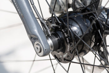 <h1>Adaptability</h1><i>Our wheels are seriously future-proof. We can adapt your wheels to any current axle standard on the market (no 15mm on Dynamo hubs), you just need to let us know what are your requirements by filling in the simple form on the confirmation page after checkout. As Shimano hydraulic brakes are appearing on many new bikes, we wanted riders to have the option so we went even more adaptable with centre-lock hubs.</i>