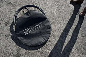 Race Season Padded wheel bag single by Hunt Bike Wheels on location at Barcombe road race circuit