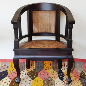 Pair of Vintage Mahogany and Cane Chairs